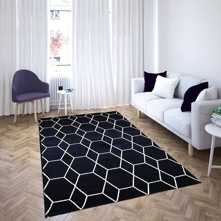MSRUGS Morrocan Collection Area Rug (8 x 10 - Navy)