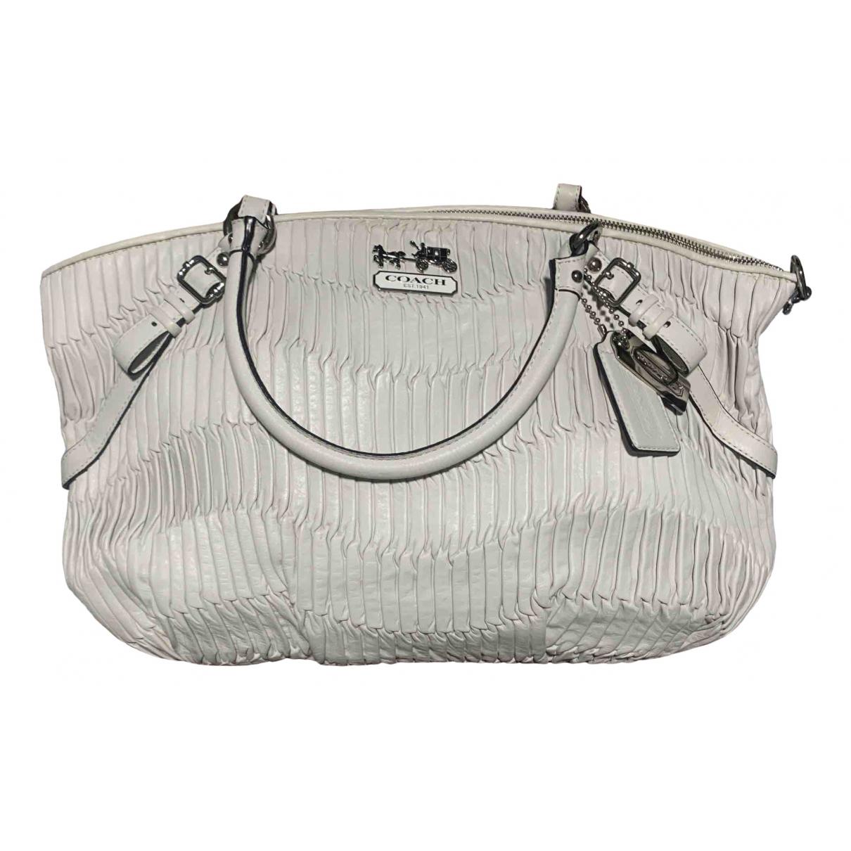 Coach Madison White Leather handbag for Women \N