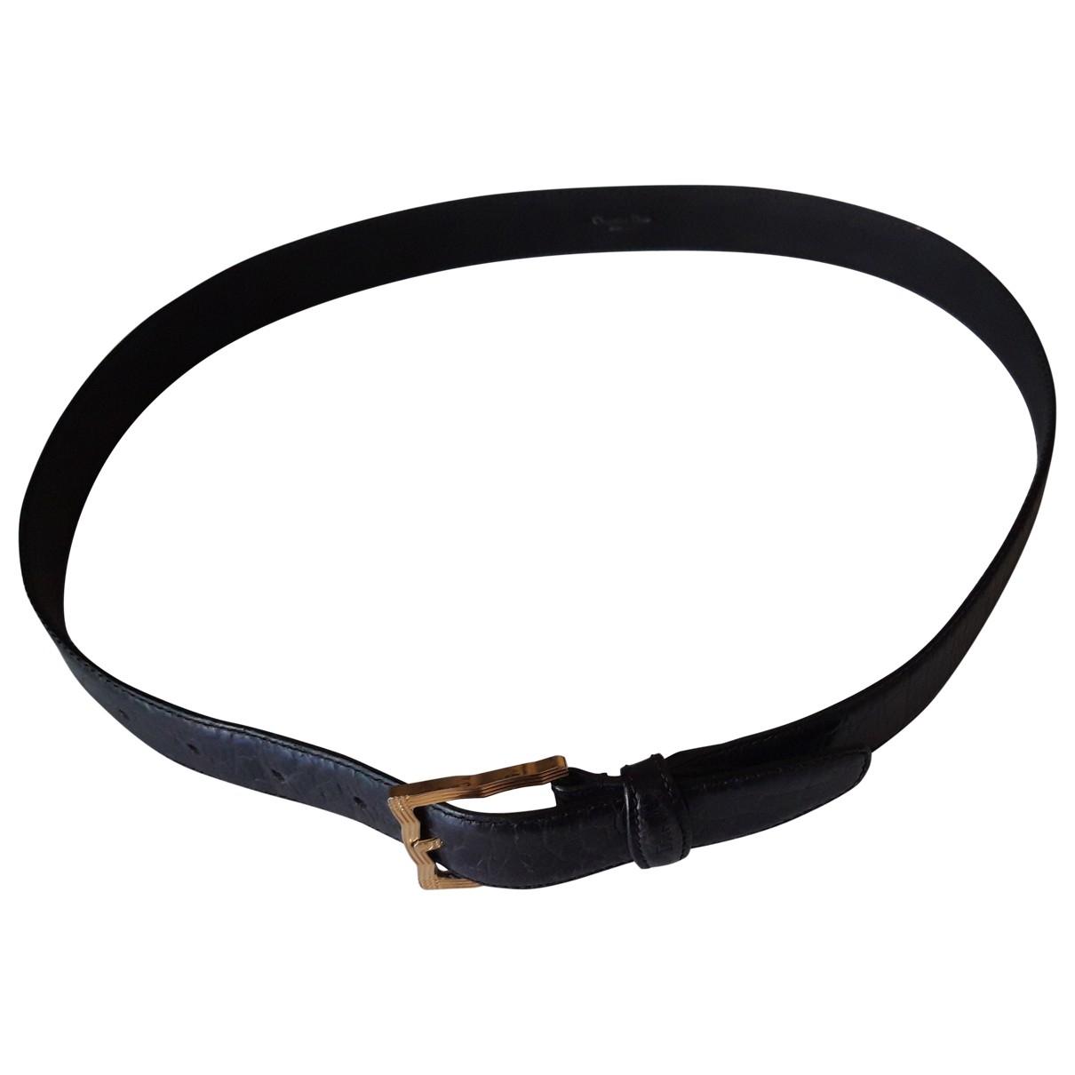 Dior Homme \N Black Leather belt for Men 95 cm