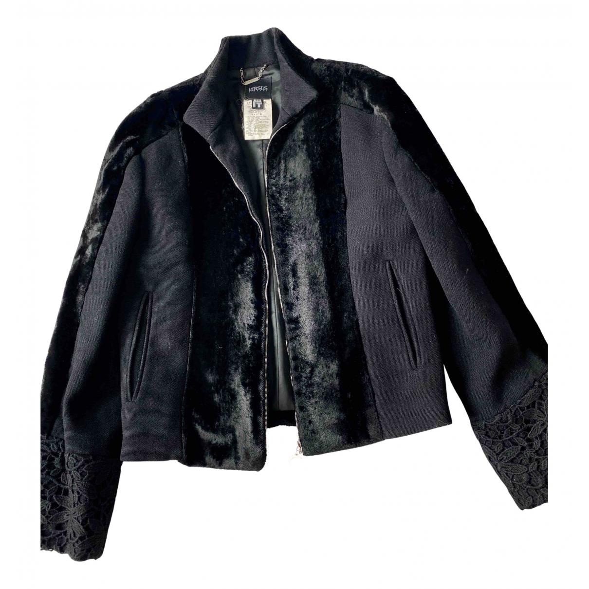 Versus - Veste   pour femme en laine - noir