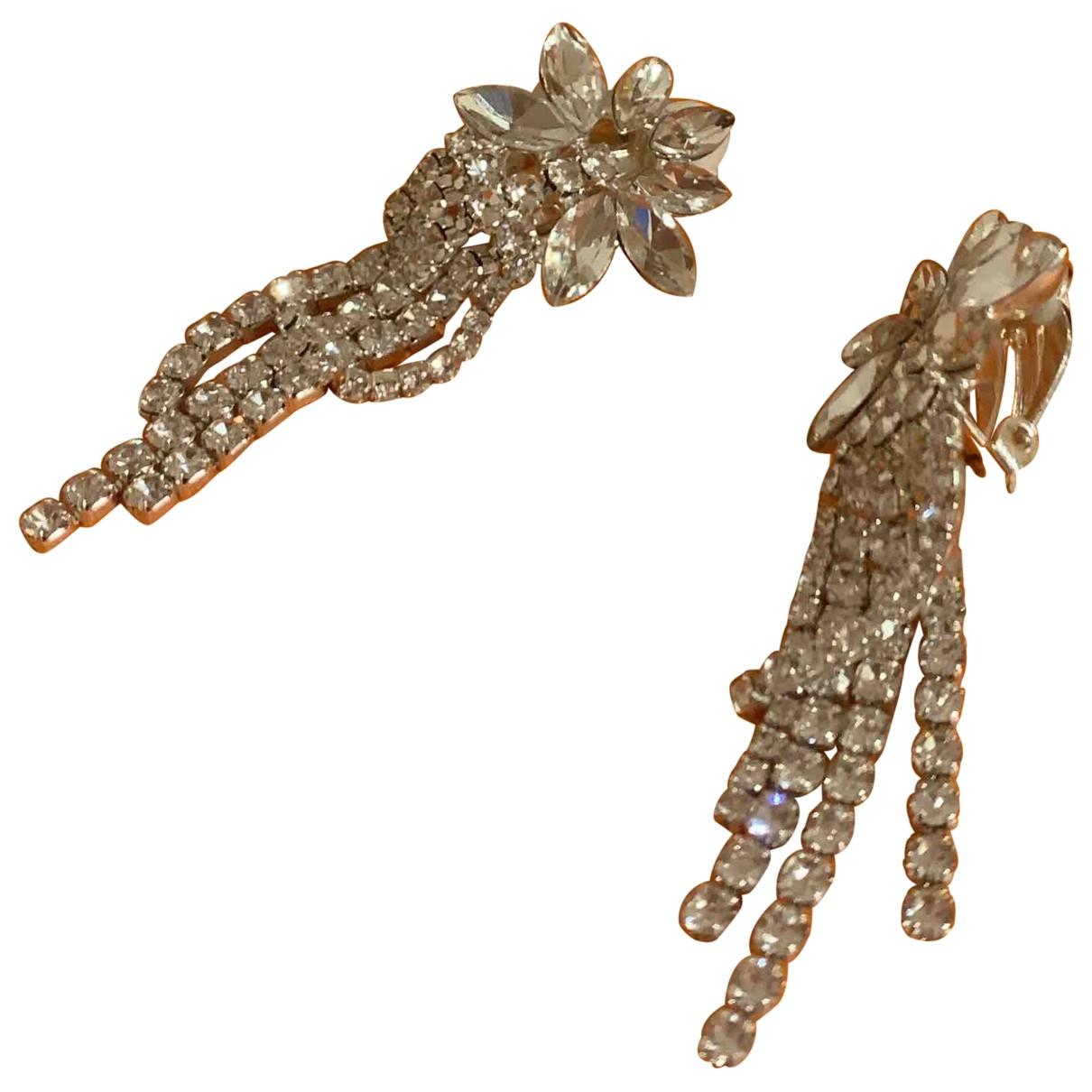 - Boucles doreilles Motifs Floraux pour femme en plaque argent - argente