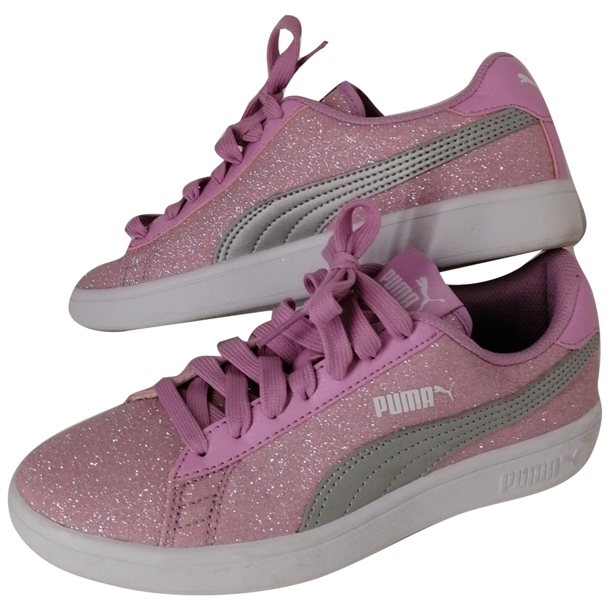 Puma \N Pink Cloth Trainers for Women 3.5 UK