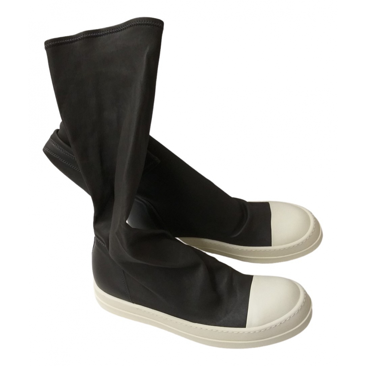 Rick Owens \N Grey Rubber Boots for Men 41 EU