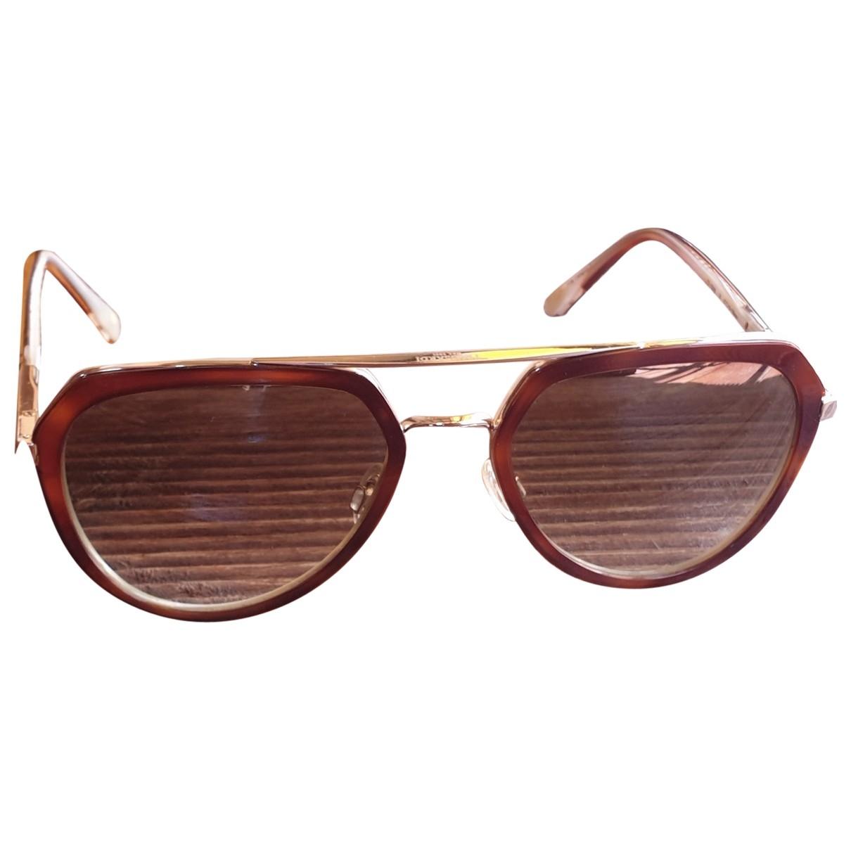 Trussardi \N Brown Metal Sunglasses for Women \N