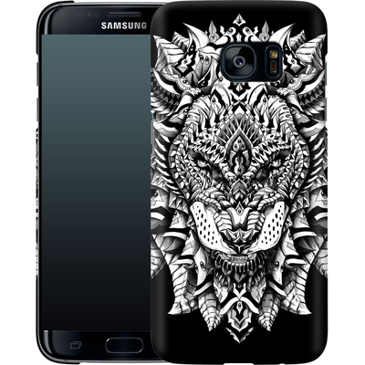 Samsung Galaxy S7 Edge Smartphone Huelle - Ornate Lion von BIOWORKZ