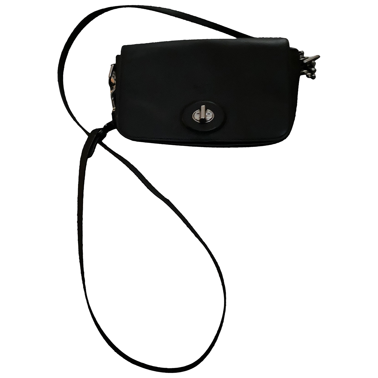 Coach \N Clutch in  Schwarz Leder