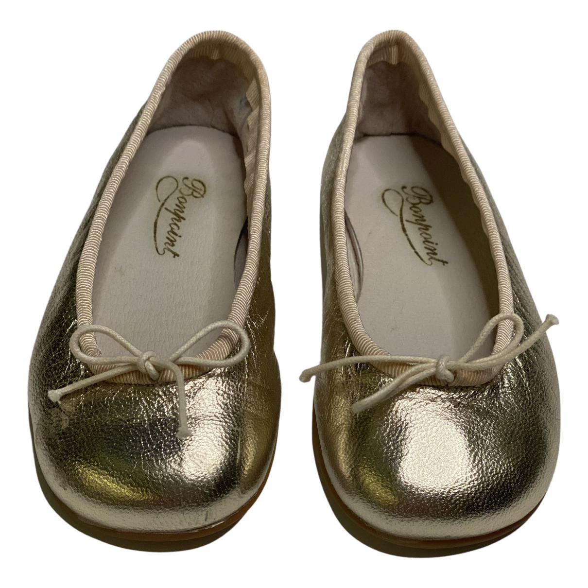 Bonpoint \N Ballerinas in  Gold Leder