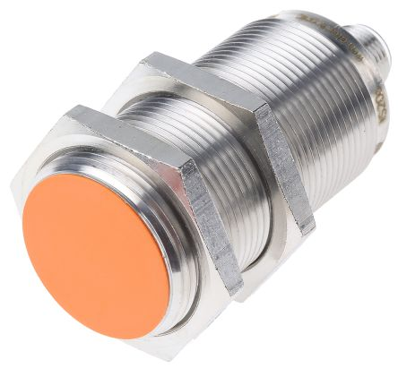 ifm electronic M30 x 1.5 Inductive Sensor - Barrel, PNP/NPN-NO Output, 15 mm Detection, IP67, M12 - 4 Pin Terminal