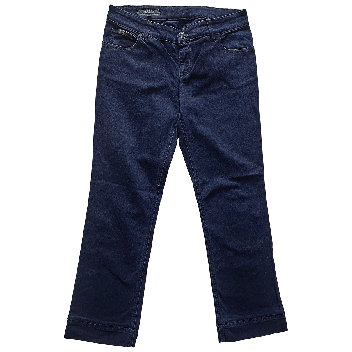 Gucci \N Navy Cotton - elasthane Jeans for Women 40 FR