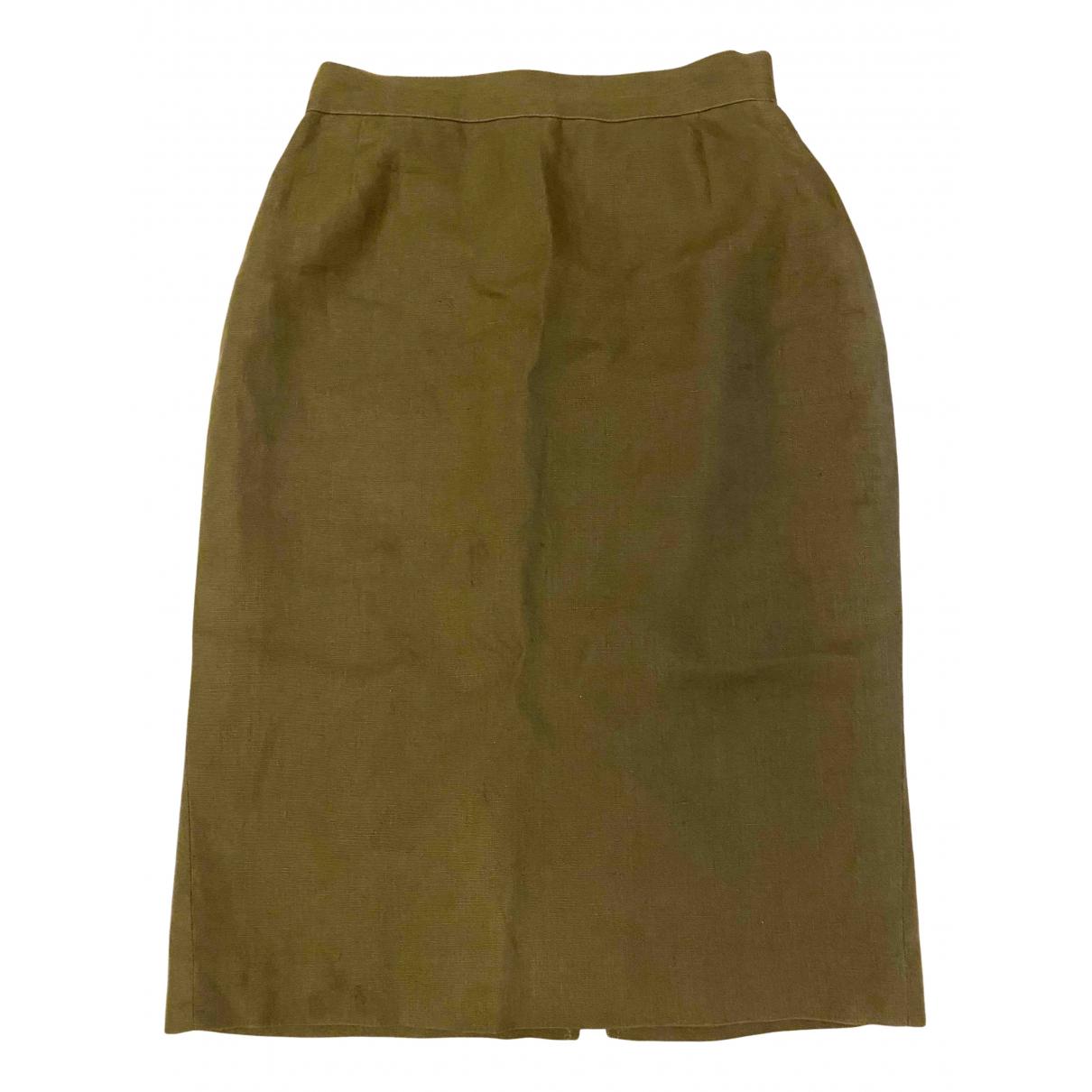 Marella - Jupe   pour femme en lin - vert