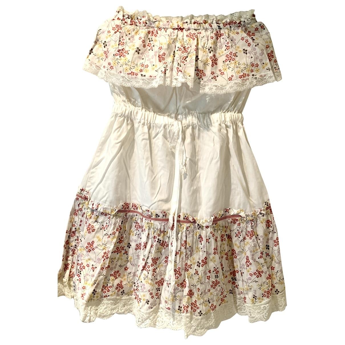 D&g - Robe   pour femme en coton - blanc