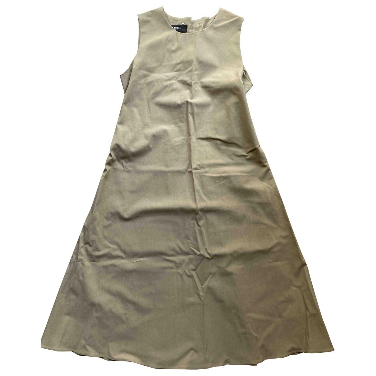 Ter Et Bantine - Robe   pour femme en coton - elasthane - beige