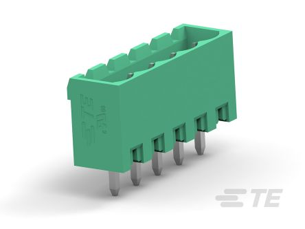 TE Connectivity 5mm Pitch, 12 Way PCB Terminal Block, Green (100)