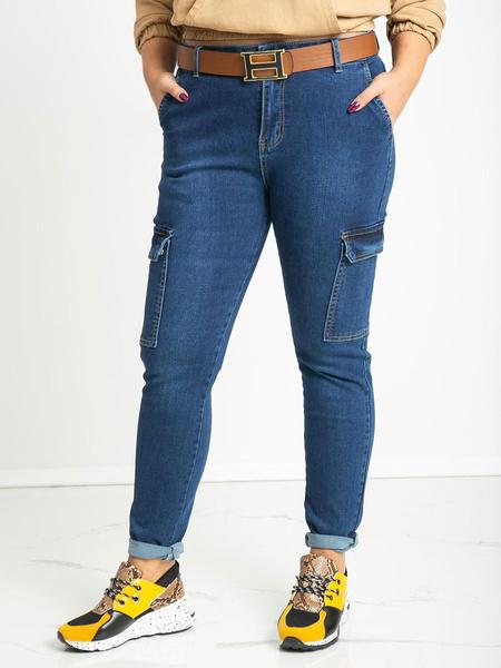 Milanoo Blue Jeans Women Denim Pants With Pockets