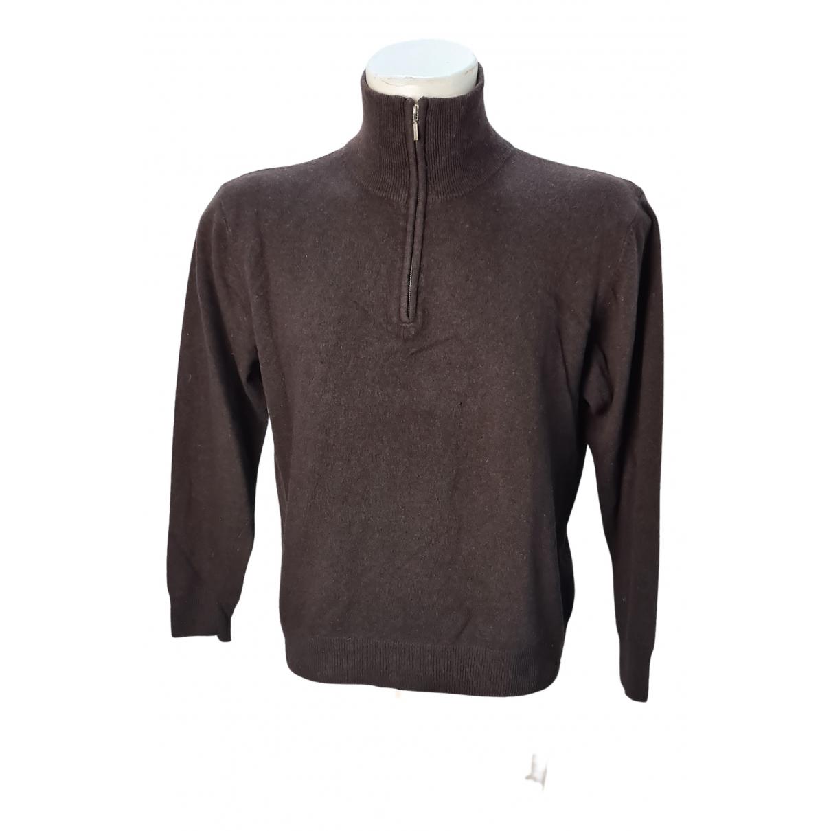 Non Signe / Unsigned \N Pullover.Westen.Sweatshirts  in  Braun Kaschmir