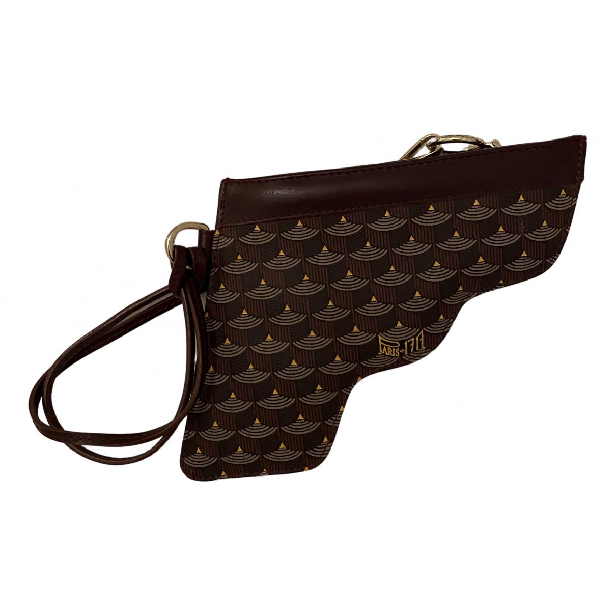 Faure Le Page - Pochette Gun pour femme en cuir - bordeaux
