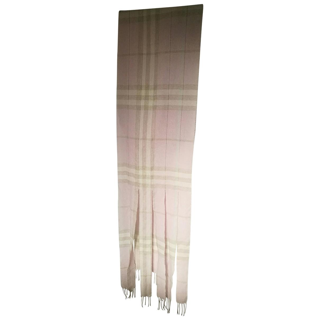 Burberry - Foulard   pour femme en cachemire - rose