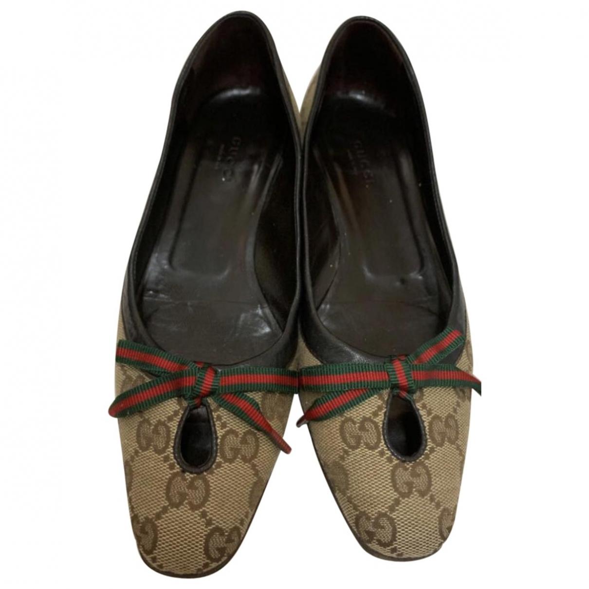 Gucci \N Beige Cloth Ballet flats for Women 35.5 EU