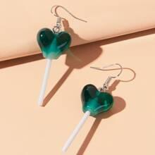 Heart Lollipop Drop Earrings