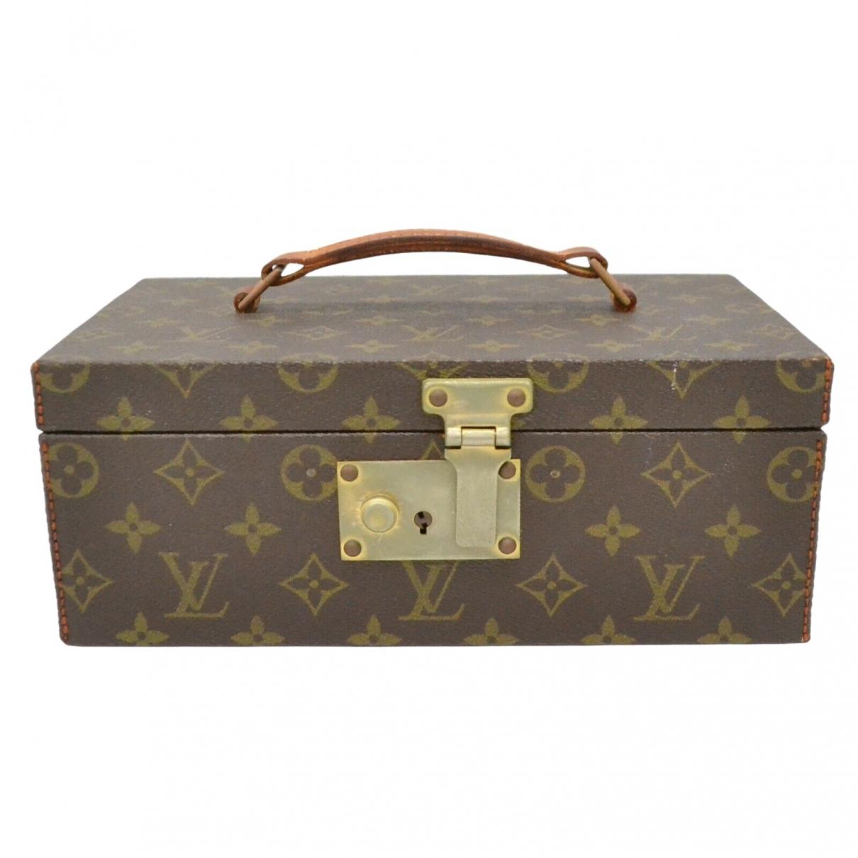 Louis Vuitton Boite a bijoux Accessoires und Dekoration in  Braun Leinen
