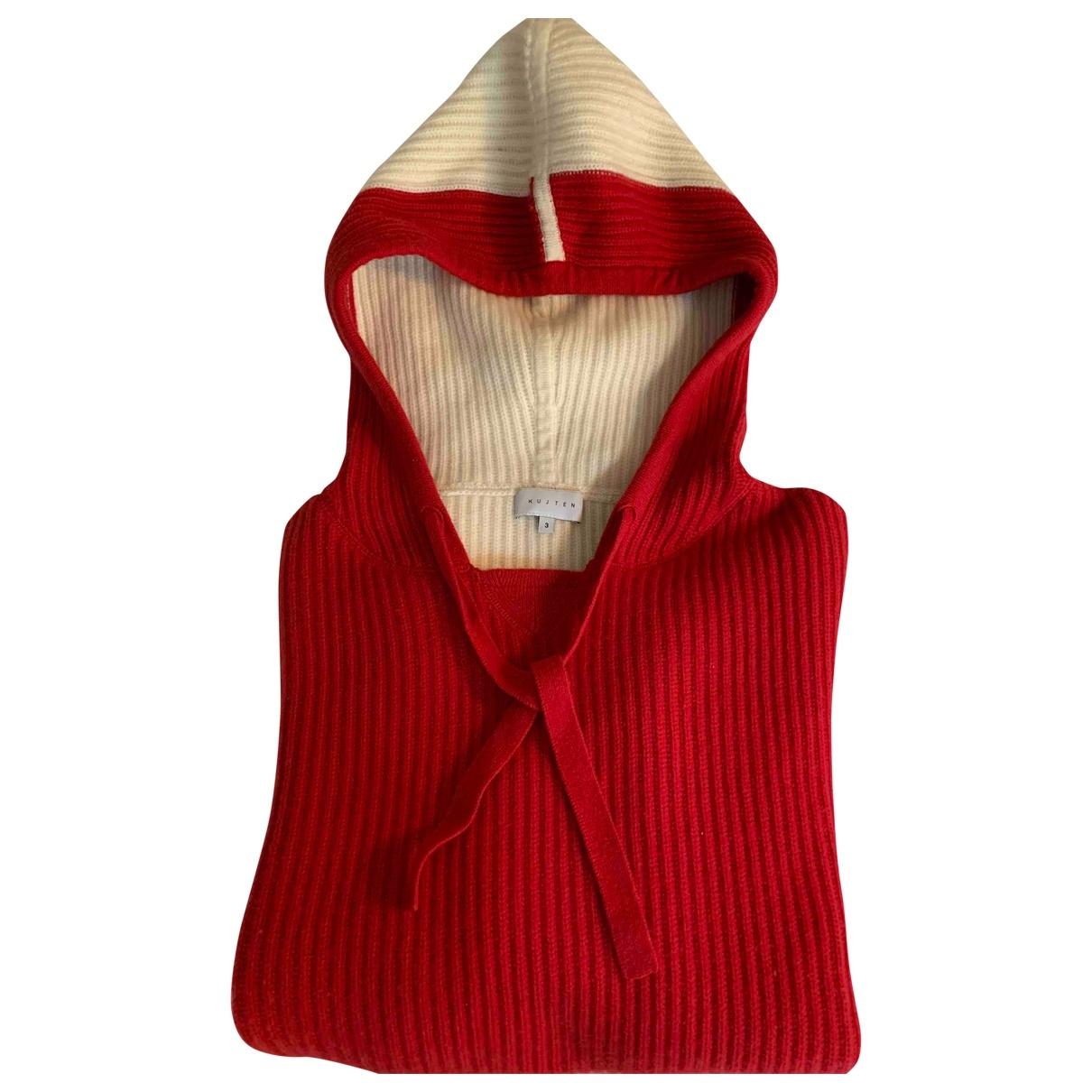 Kujten \N Pullover in  Rot Kaschmir