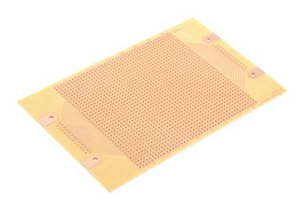 Roth Elektronik RE225-HP, Single Sided DIN 41652 Eurocard PCB FR2 With 35 x 42 1mm Holes, 2.54 x 2.54mm Pitch, 160 x 100 x 1.5mm