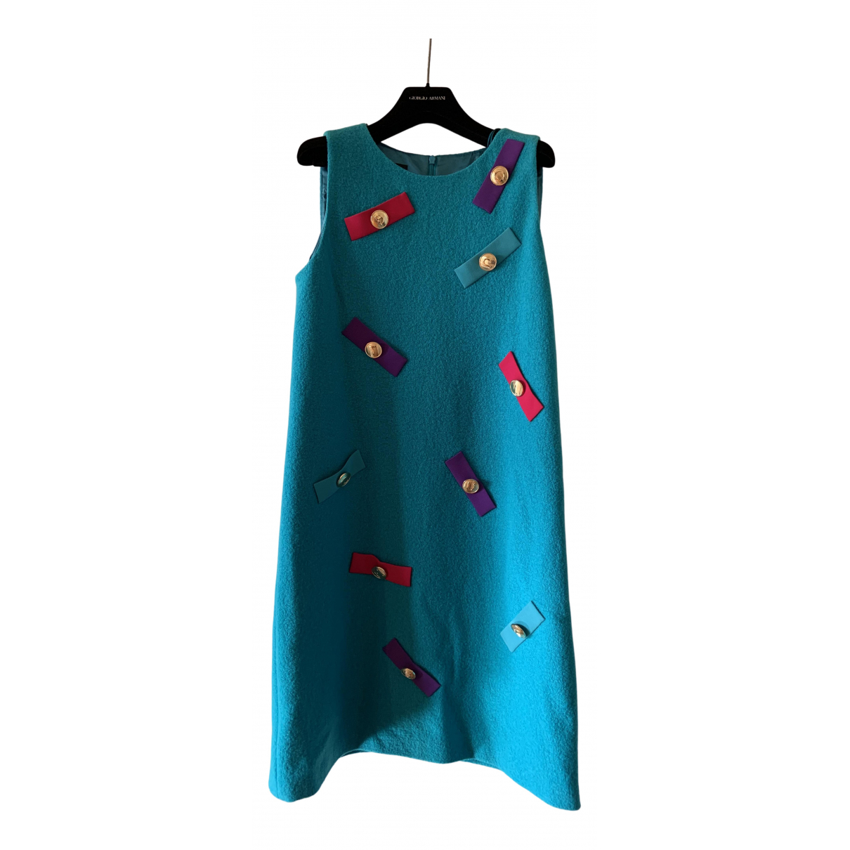 Moschino \N Kleid in  Tuerkis Wolle