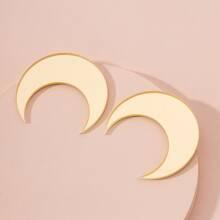 Moon Design Stud Earrings