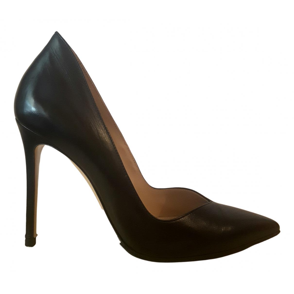 Gianvito Rossi Gianvito Black Leather Heels for Women 38 IT