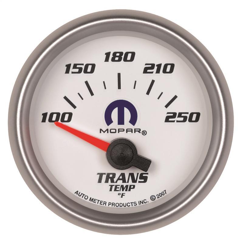 AutoMeter GAUGE; TRANSMISSION TEMP; 2 1/16in.; 100-250deg.F; ELECTRIC; WHITE; MOPAR