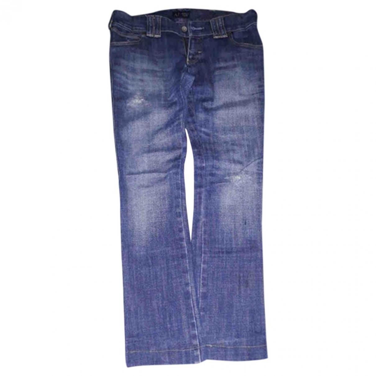 Armani Jeans \N Blue Denim - Jeans Jeans for Women 26 US