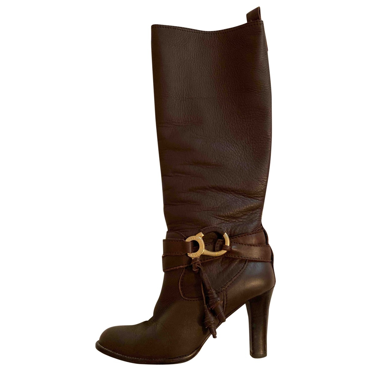 Bally \N Brown Leather Boots for Women 37 EU