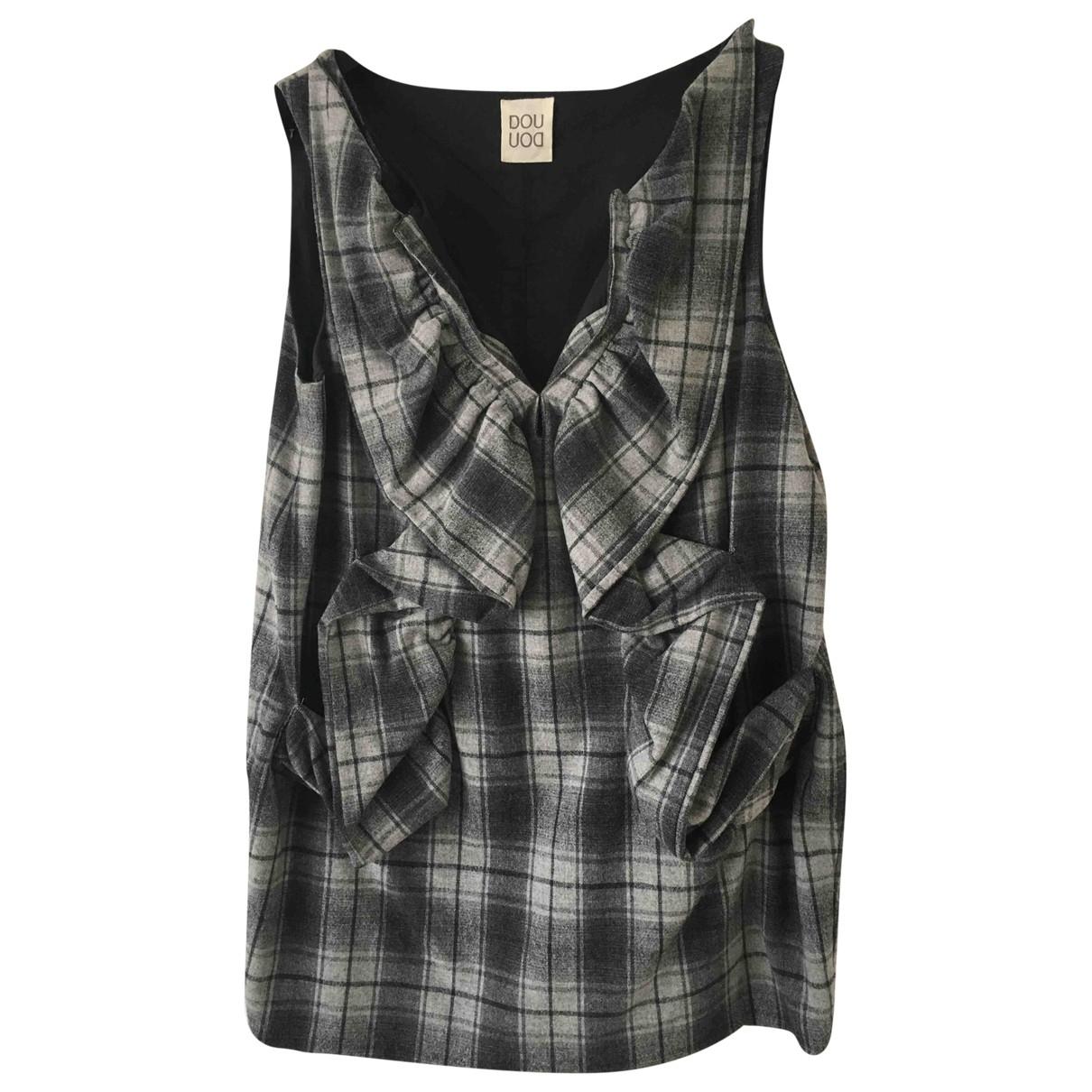 Douuod \N Kleid in  Grau Wolle