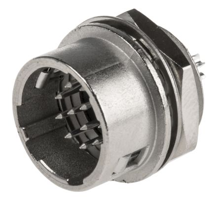 Hirose Connector, 12 contacts Panel Mount Plug, Solder