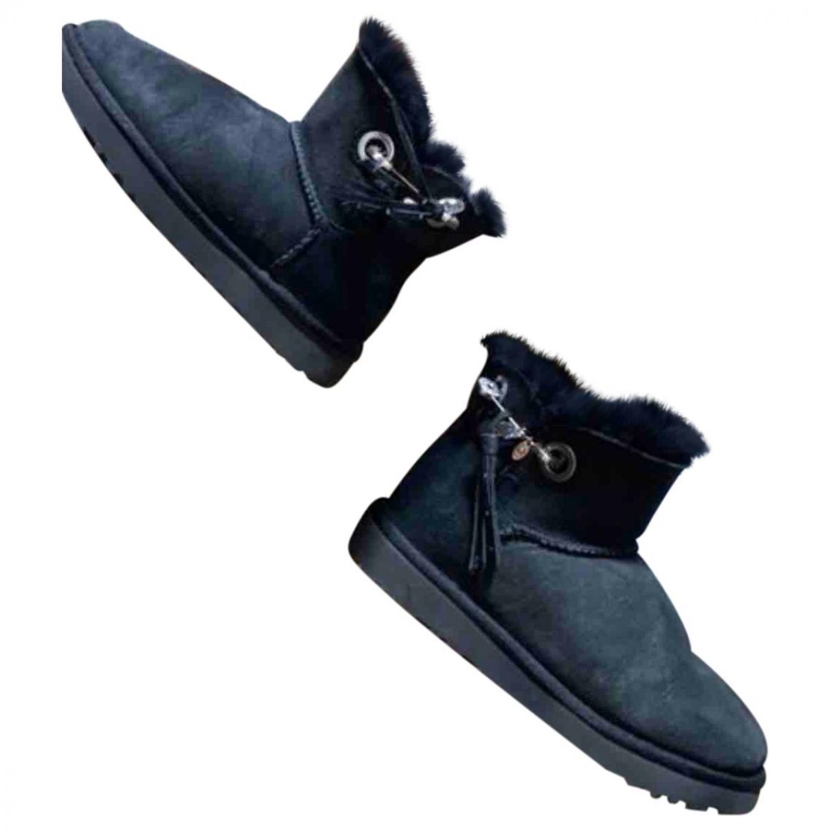 Ugg & Jimmy Choo \N Black Leather Boots for Women 37 EU