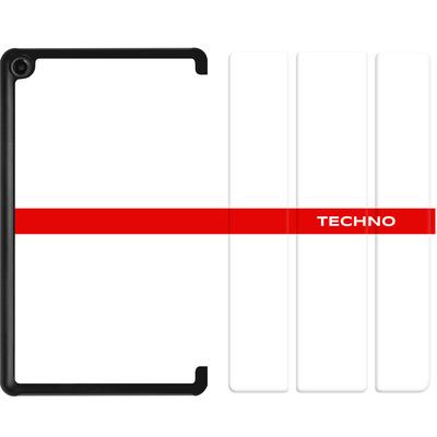 Amazon Fire 7 (2017) Tablet Smart Case - RED LINE von Berlin Techno Collective