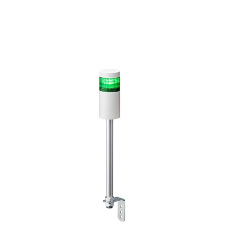Patlite LED Pre-Configured Beacon Tower, 1 Light Elements, Green, 24 V dc