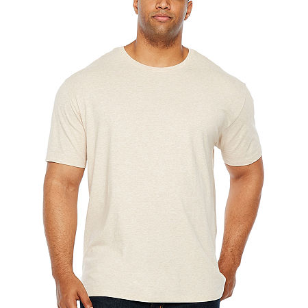 The Foundry Big & Tall Supply Co.-Big and Tall Mens Crew Neck Short Sleeve T-Shirt, 2x-large , Gray