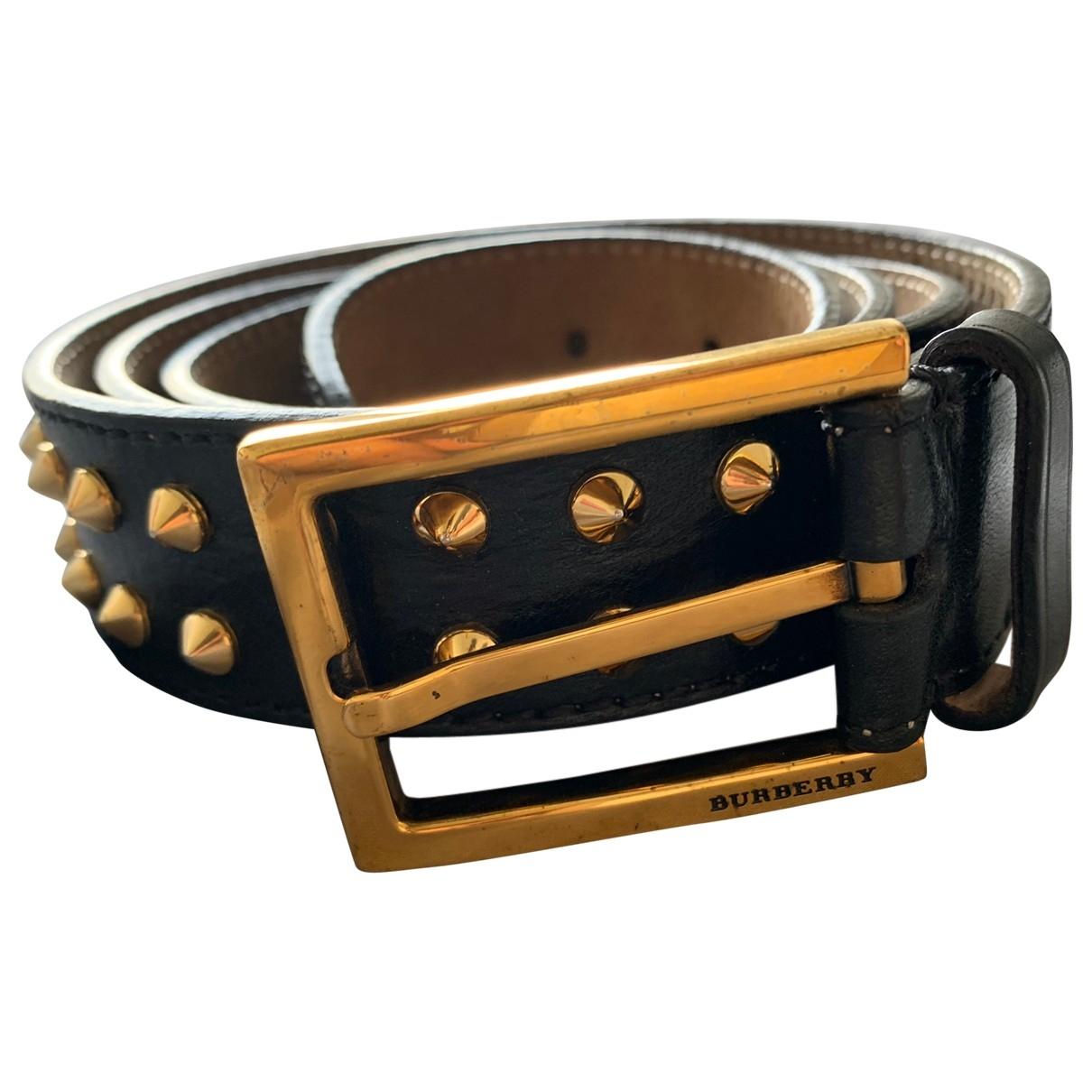 Burberry \N Black Leather belt for Men 95 cm