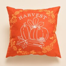 Thanksgiving Pumpkin Print Cushion Cover Without Filler