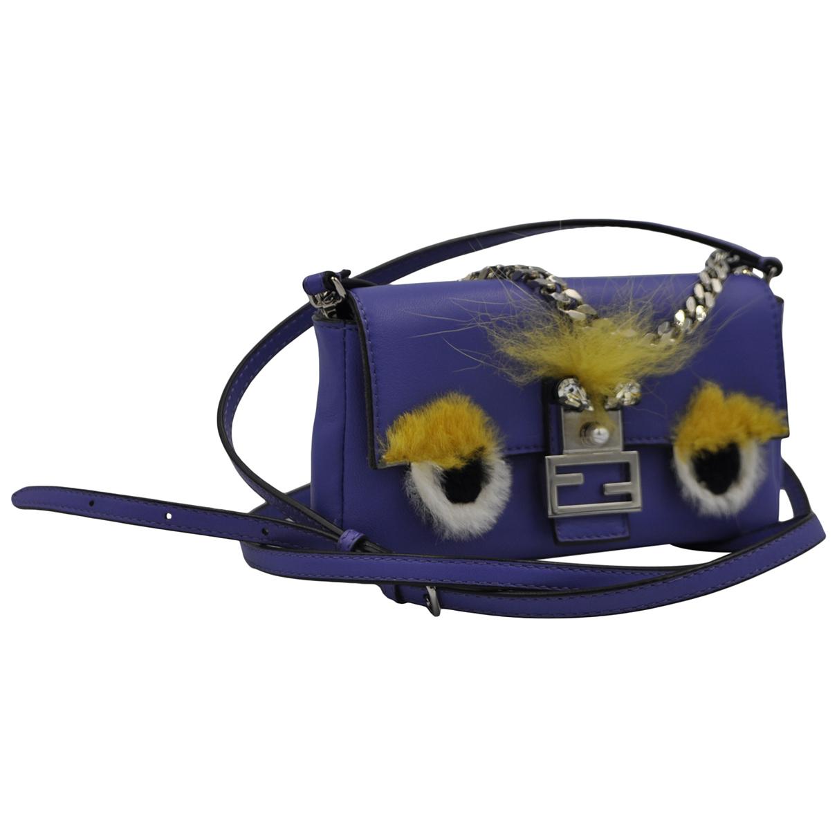 Fendi \N Handtasche in  Lila Leder