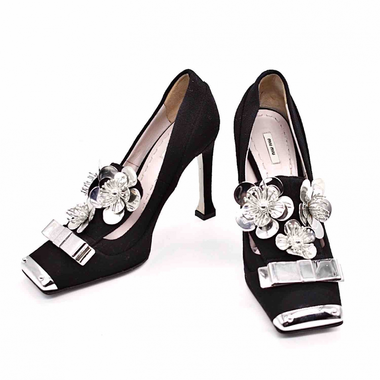 Miu Miu \N Black Leather Heels for Women 37 EU
