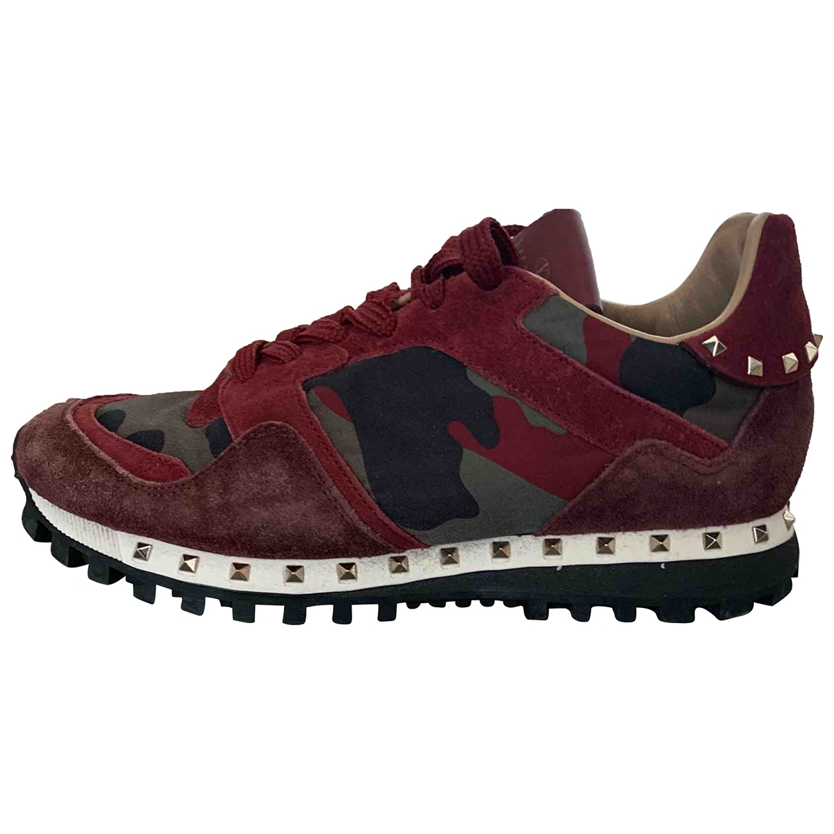 Valentino Garavani Rockrunner Sneakers in  Rot Leder