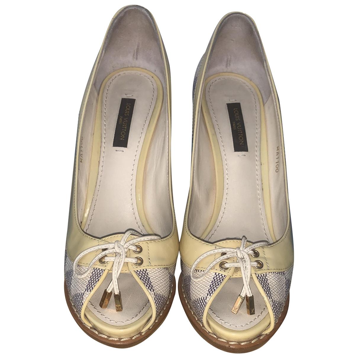 Louis Vuitton - Escarpins Cherie pour femme en toile - beige