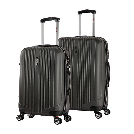 InUSA San Francisco Lightweight Hardside Spinner 2-pc Medium and Large Luggage Set, One Size , Black