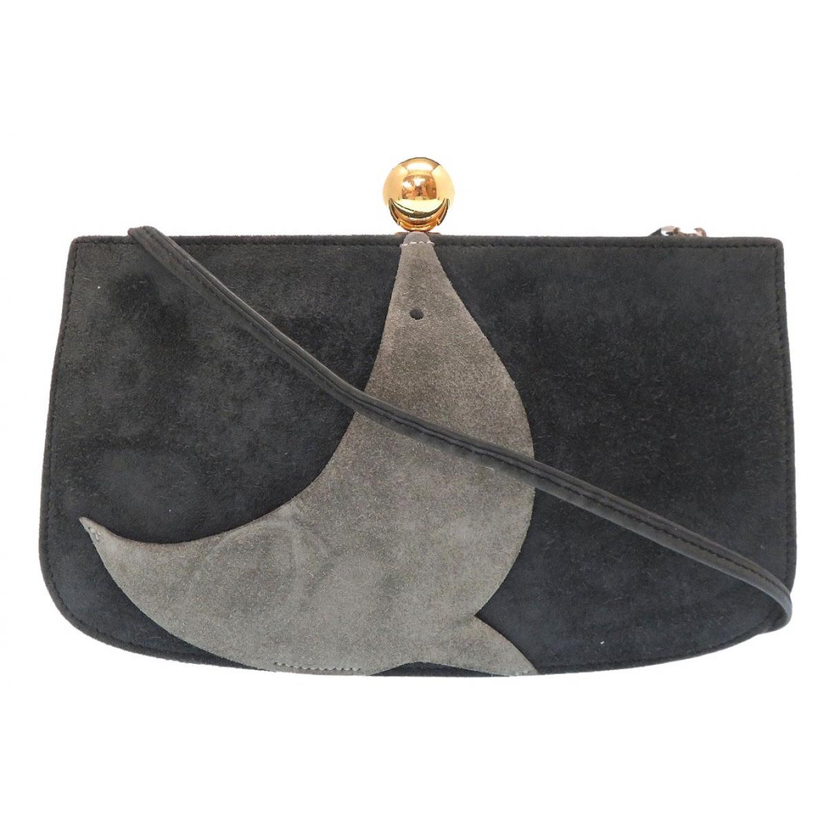 Hermes - Pochette   pour femme en suede - noir
