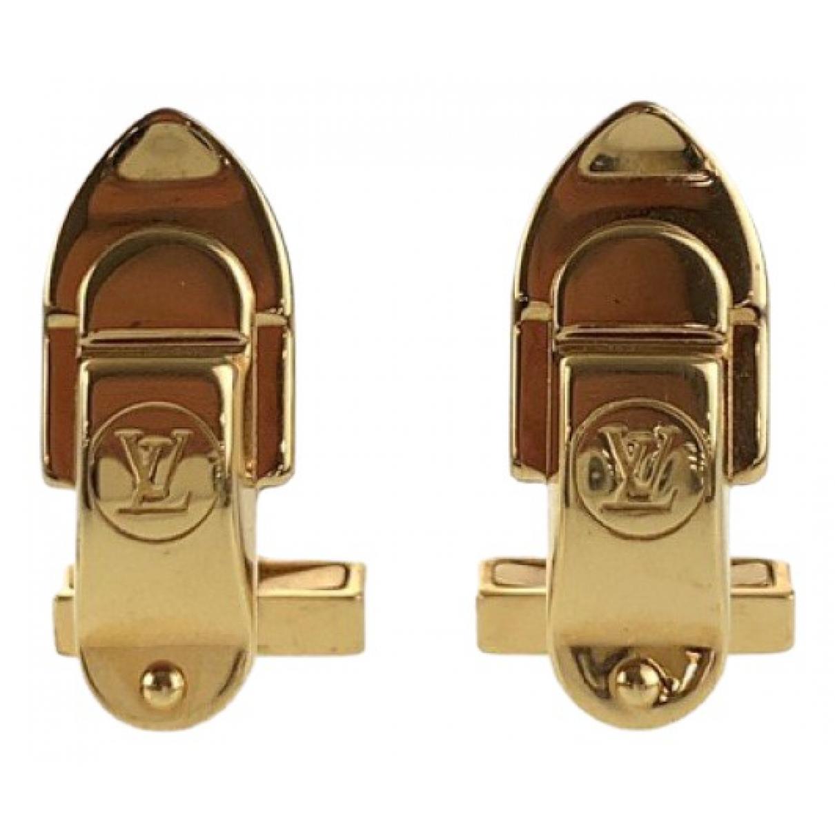 Louis Vuitton - Boutons de manchette   pour homme en metal - dore