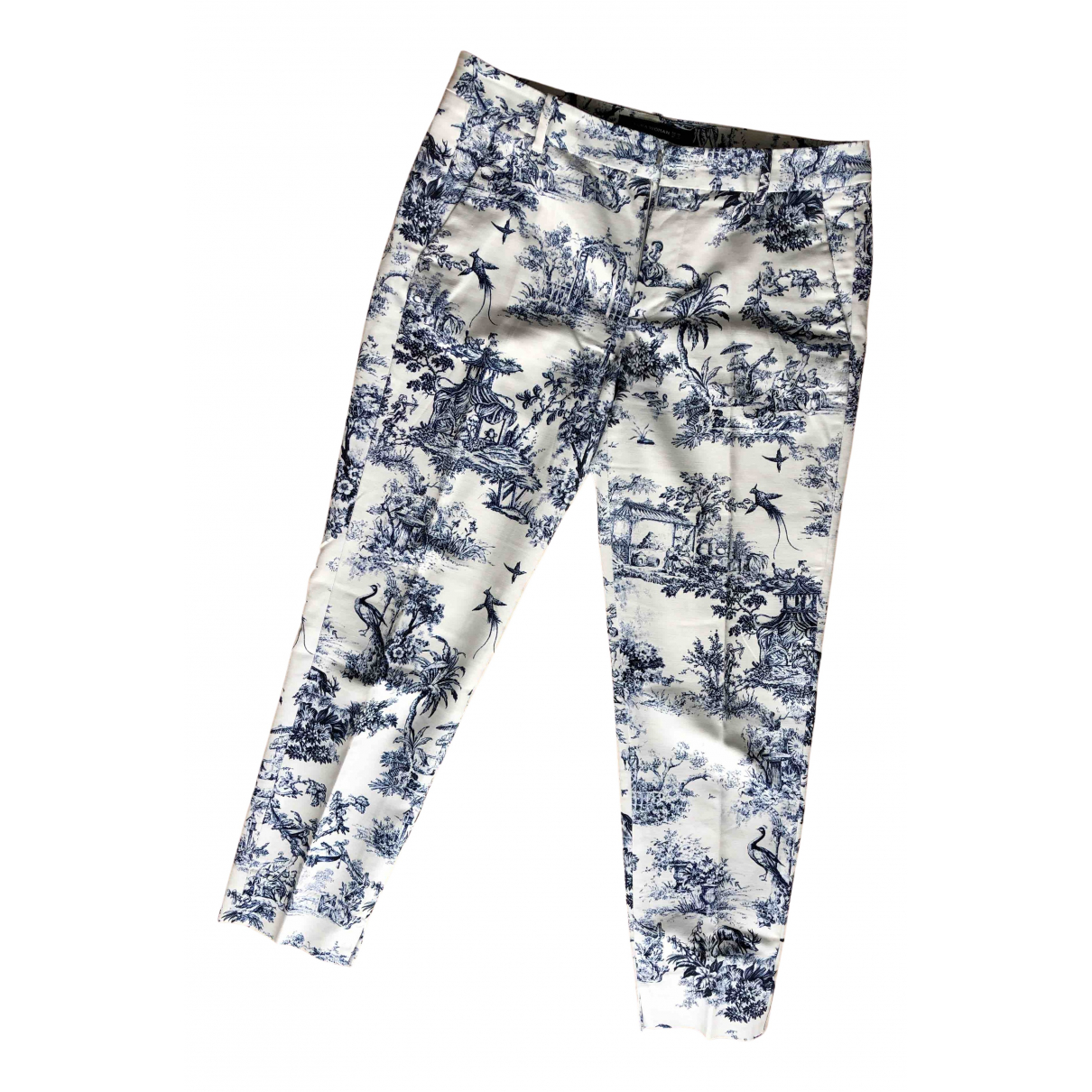 Zara - Pantalon   pour femme en coton - marine