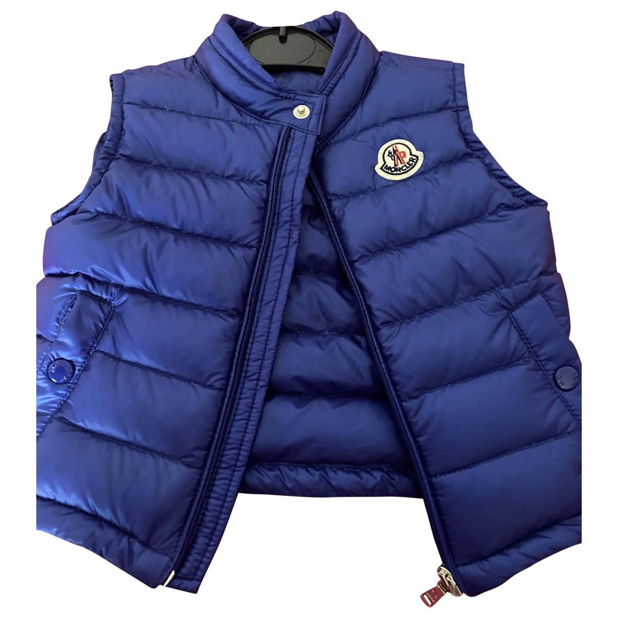Moncler Sleeveless Blue jacket & coat for Kids 18 months - until 32 inches UK