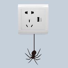 Schalter Aufkleber mit Halloween Spinne Muster